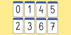 Karty z liczbami 0-20