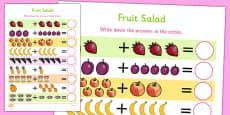 Fruit Salad Up to 10 Addition Sheet