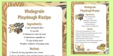 Wholegrain Playdough Recipe