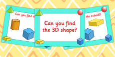 EYFS Can You Find The 3D Shape PowerPoint