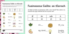 Spring Phase 3 Missing Sounds Activity Sheet Gaeilge
