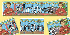 British Sign Language Christmas Display Banner Left Handed