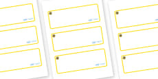 Sunflower Themed Editable Drawer-Peg-Name Labels (Blank)