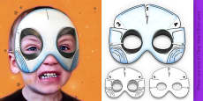 3D Halloween Ghost Monster Role Play Mask