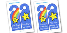 Star Pupil Reward Door Hangers
