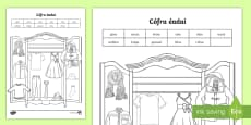 * NEW * Label the Clothes Activity Sheet Gaeilge