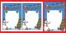 Christmas Themed Editable Notes