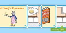 Story to Support Teaching on Mr Wolf's Pancakes