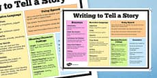 Writing to Tell a Story Poster
