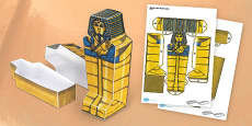 Egyptian Coffin Paper Model