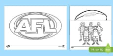 AFL Australian Football League Colouring Pages