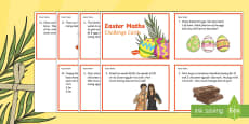Year 3 Easter Maths Challenge Cards