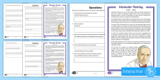 * NEW * Scottish Scientist Alexander Fleming Differentiated Comprehension Go Respond Activity Sheets