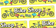 Bike Shop Display Banner