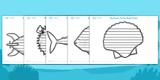 Under the Sea Shape Poetry Templates