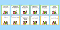 General Conversation Question Pair Cards Me My Family and Friends