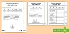 Complete the Sentences with Modal Verbs Differentiated  Activity Pack