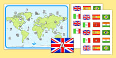 World Map Capital and Lower Case Letter Matching Game