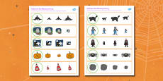 Halloween Size Matching Worksheets