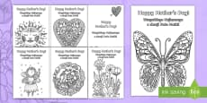 Mother's Day Mindfulness Colouring Cards English/Polish