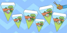Fairy Garden Display Bunting