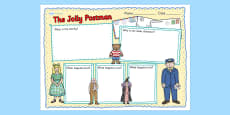 Book Review Writing Frame to Support Teaching on The Jolly Postman