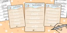 The Elves and the Shoemaker Trace the Words Activity Sheet