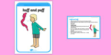 Foundation PE (Reception) Huff and Puff Cool-Down Activity Card
