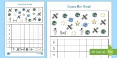 * NEW * Space Bar Graph Activity Sheet