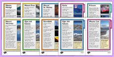 Volcano Fact Sheets