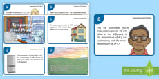 * NEW * UKS2 Temperature Word Problems Maths Challenge Cards