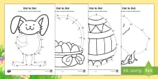 * NEW * Easter Dot to Dot Activity Sheets