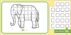 Patchwork Elephant Large Display Poster to Support Teaching on Elmer