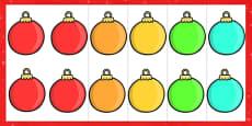 Editable Christmas Baubles