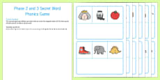 Secret Word Phonics Game Phase 2 and 3