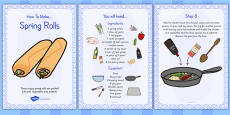 Crispy Spring Rolls Recipe Cards