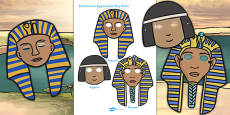 Ancient Egypt Small Role Play Masks