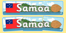 Samoa Display Banner