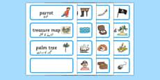 Pirate Word Cards Urdu Translation