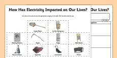 Impact of Electricity Activity Sheet