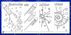 Guy Fawkes Night Colouring Sheets
