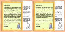 Goldilocks Apology Letter Template