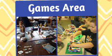 Games Area Photo Sign