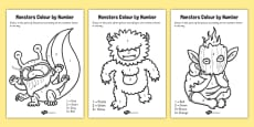 Monsters Colour by Number