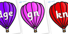 Silent Letters on Hot Air Balloons (Plain)