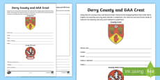Derry County and GAA Crest Activity Sheet