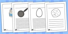 Australia - Pancake Recipe Writing Frames