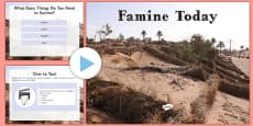 Famine Today PowerPoint