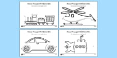 Aistear Transport Dot to Dot Activity Sheets Differentiated