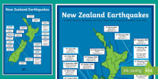 New Zealand Large Earthquakes Map
